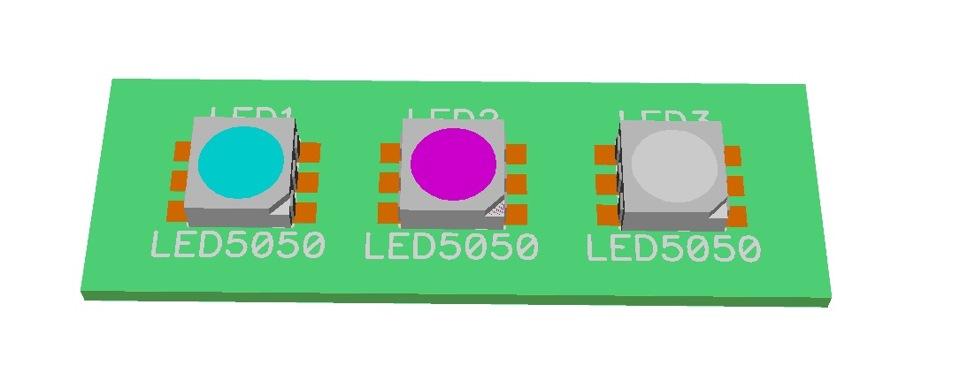 LED5050 Magenta_Aqua_White